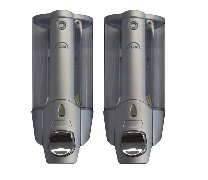 Διπλή Σαπουνοθήκη Τοίχου 2 x 380ml FOX ZYQ-138S 78306 dispenser μπάνιου