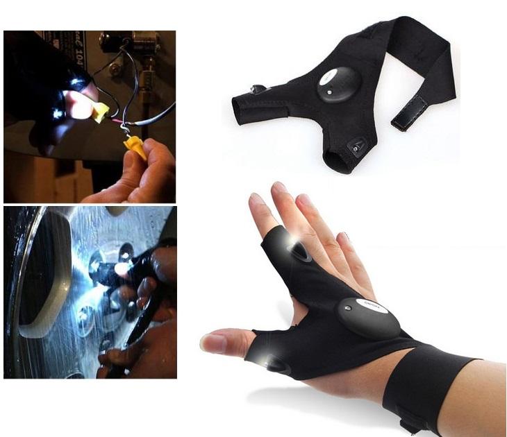 Γάντι Δύο Δακτύλων Με Φακούς LED