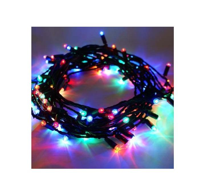 80 Λαμπάκια LED Με 8 Προγράμματα Φωτισμού Και Πράσινο Καλώδιο