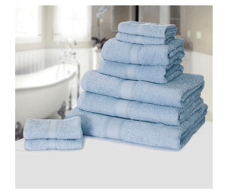 Σετ με 9 Πετσέτες από 100% Premium Αιγυπτιακό Βαμβάκι Μπλε Χρώμα είδη σπιτιού