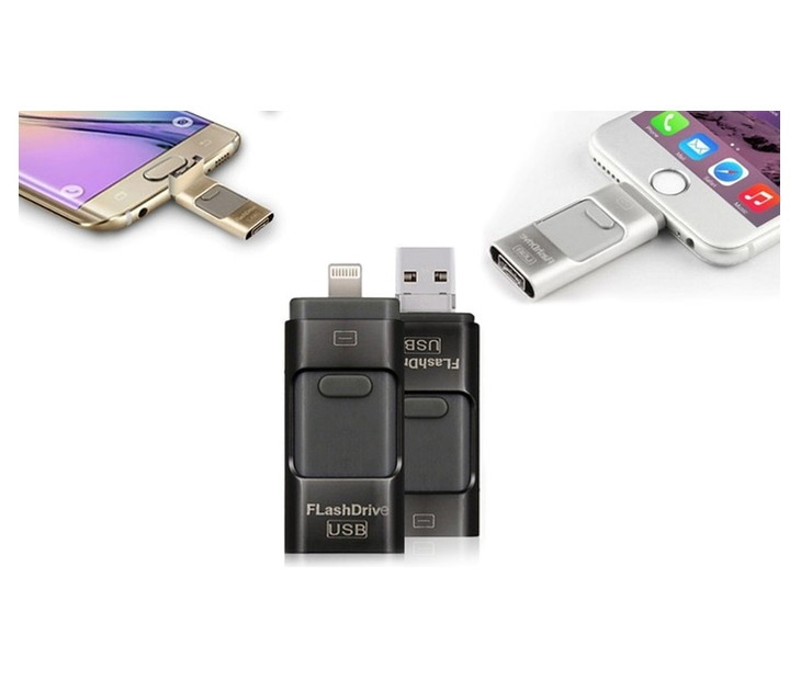 iFlash Drive για iOS & Android Χρώματος Μαύρο 32GB R138266 smartphone   tablet gadget