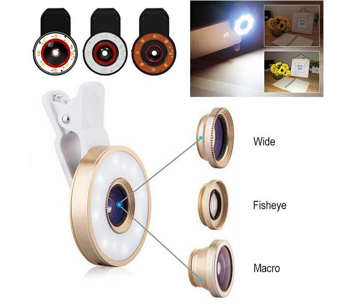 Σετ 4 Φακών & Φίλτρων LED με Κλιπ Προσαρμογής audio   video gadgets