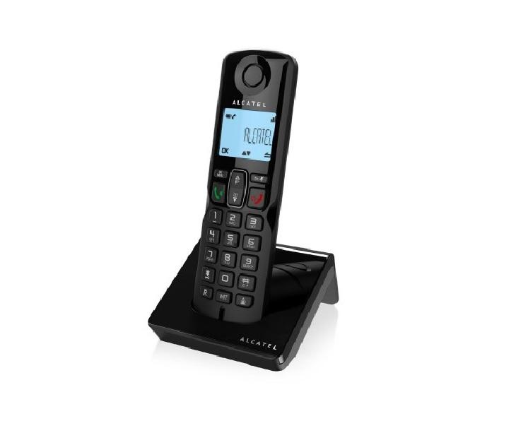 Ασύρματη Τηλεφωνική Συσκευή Μαύρη ALCATEL S250 τηλεφωνία