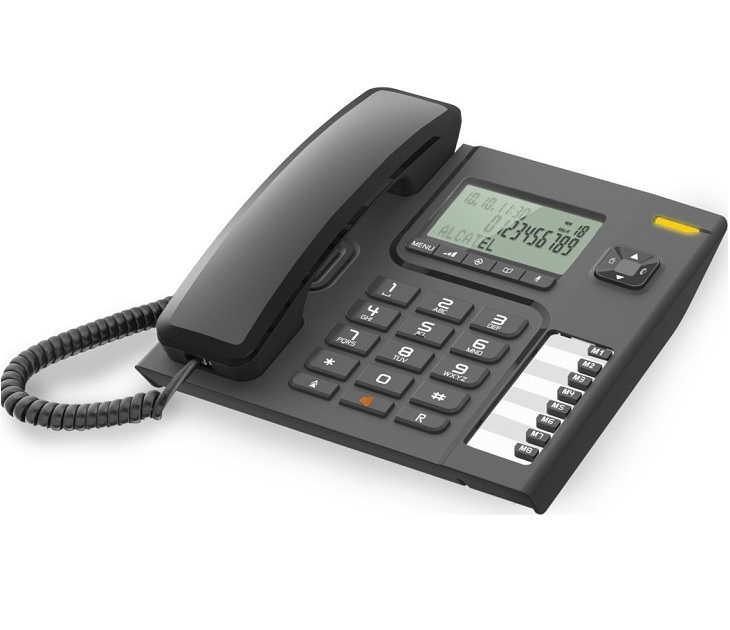Ενσύρματο Τηλέφωνο Alcatel Τ76 Μαύρο τηλεφωνία