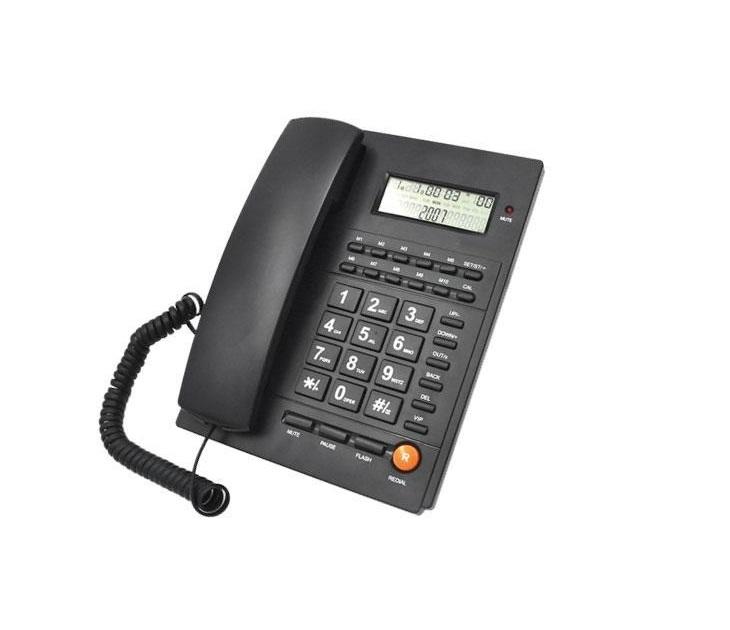 Ενσύρματο Επιτραπέζιο Τηλέφωνο Caller ID Telco ΤΜ-PA117 Μαύρο
