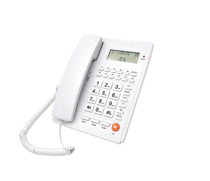 Ενσύρματο Επιτραπέζιο Τηλέφωνο Caller ID Telco ΤΜ-PA117 Λευκό