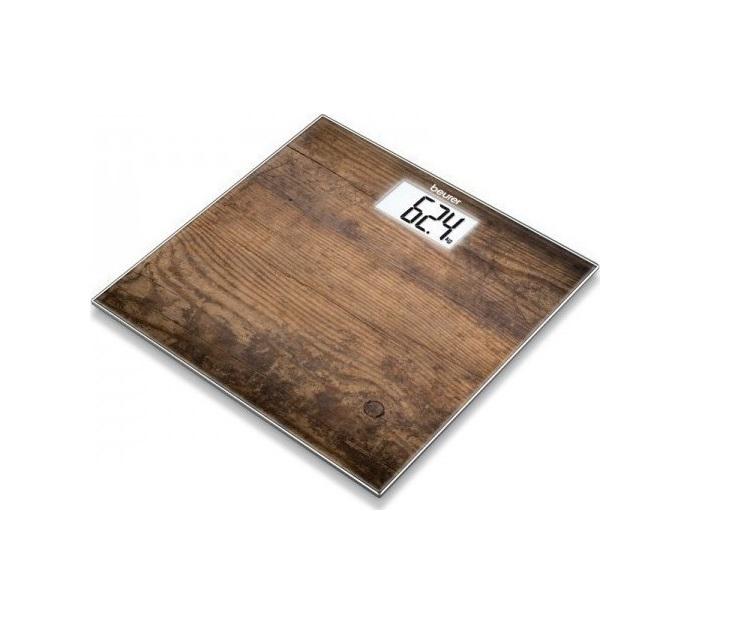 Ψηφιακή Ζυγαριά Μπάνιου Γυάλινη, Beurer GS 203 Wood προσωπική περιποίηση