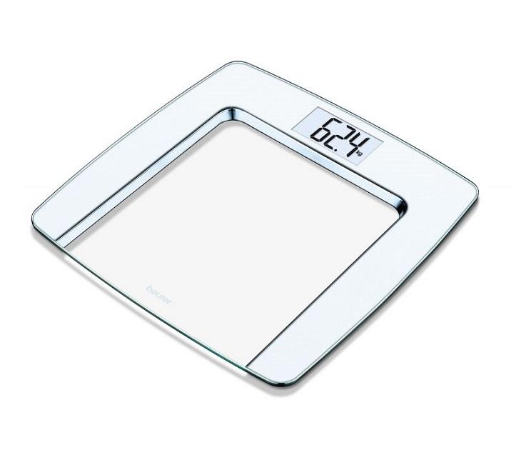 Γυάλινη Ψηφιακή Ζυγαριά Μπάνιου Beurer GS 490 White προσωπική περιποίηση