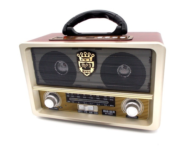 Ρετρό Φορητό Επαναφορτιζόμενο Ραδιόφωνο USB/SD/MP3/Recorder audio   video gadgets
