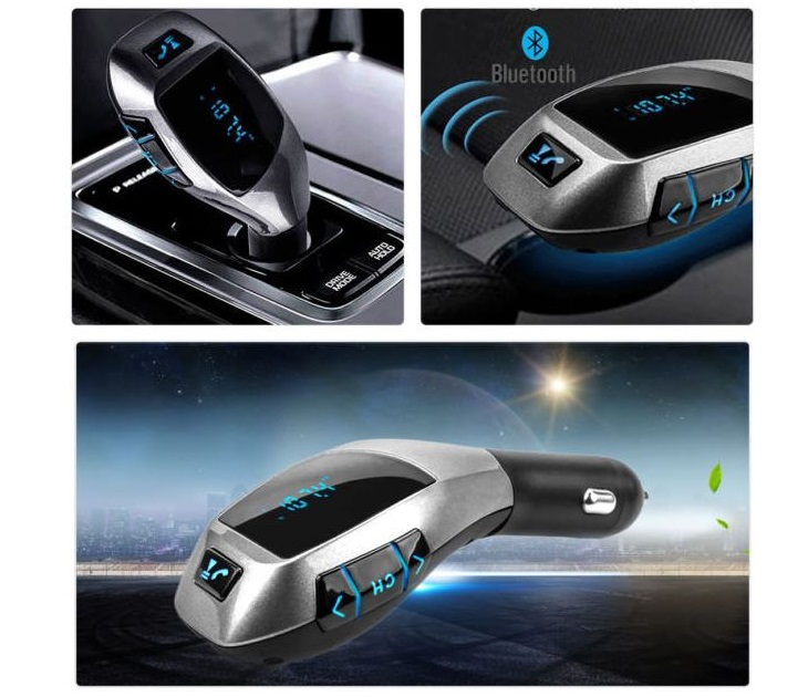 Bluetooth Car Kit X7 με Χειριστήριο, microSD και USB bluetooth   fm transmitters
