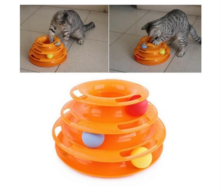 Παιχνίδι Γάτας - Πύργος 3 Επιπέδων Με Μπαλάκια ΟΕΜ