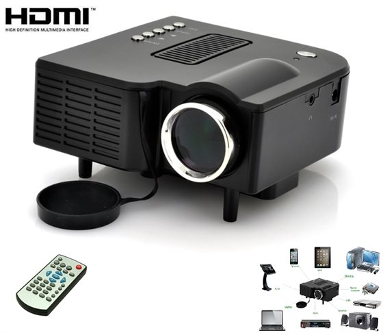 Mini Led Projector με Θύρες HDMI /SD/ USB/ AV