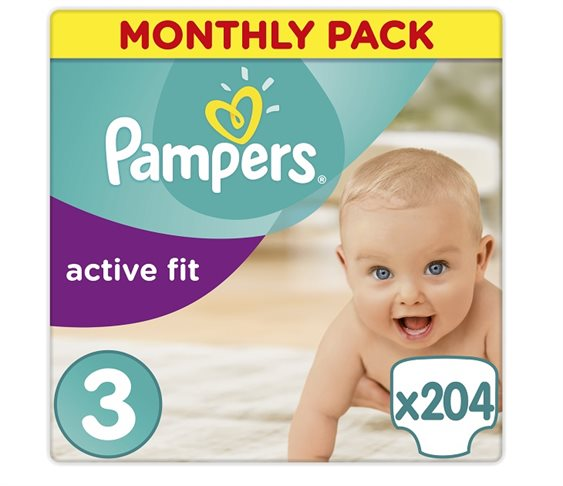Πάνες Pampers Active Fit Μidi Monthly Pa