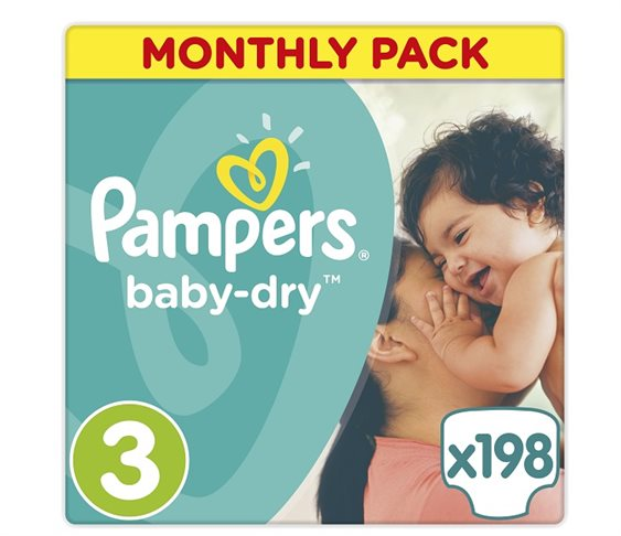 Πάνες Pampers Baby Dry Midi Μonthly Pack No 3