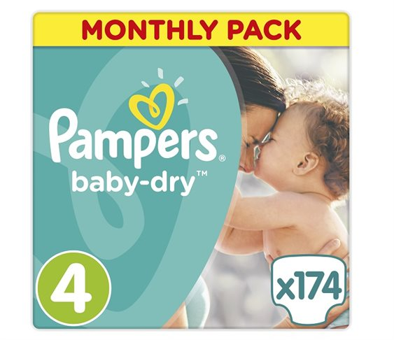 Πάνες Pampers Baby Dry Maxi Μonthly Pack No 4