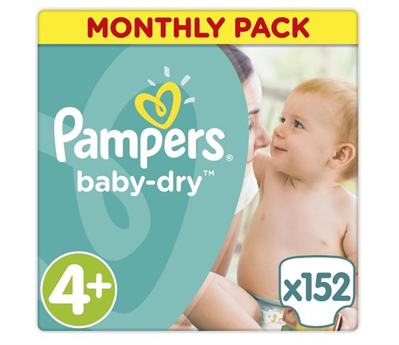 Πάνες Pampers Baby Dry Maxi Plus Μonthly 152τ
