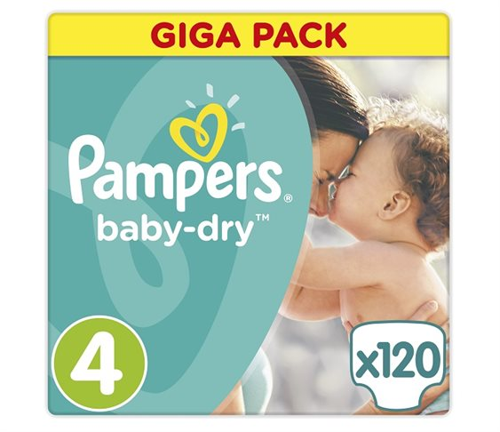 Pampers Baby Dry Maxi Giga Pack 120τμχ (