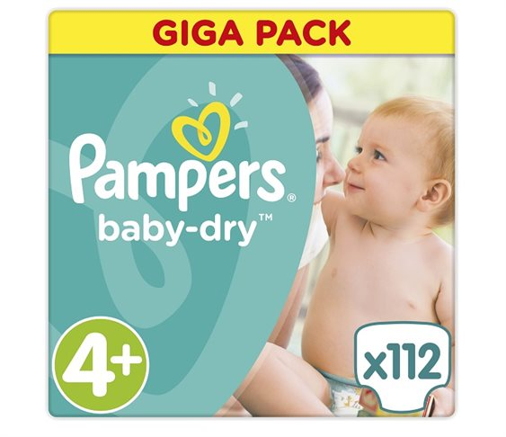 Πάνες Pampers Baby Dry Maxi Plus Giga Pa