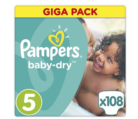 Πάνες Pampers Baby Dry Junior Giga Pack