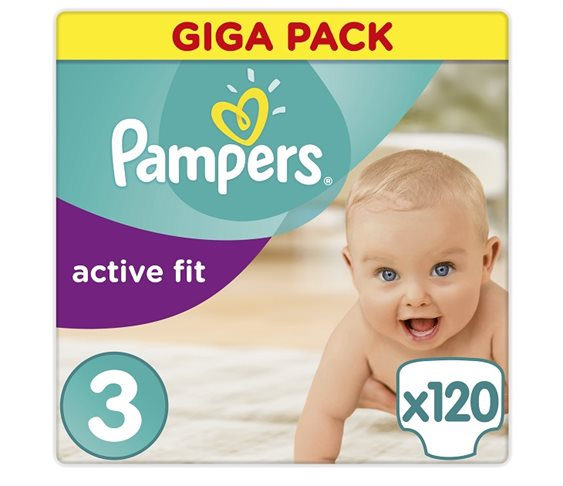 Πάνες Pampers Active Fit Midi Giga Pack