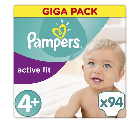 Πάνες Pampers Active Fit Maxi Plus Giga Pack