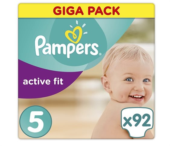 Πάνες Pampers Active Fit Junior Giga Pac