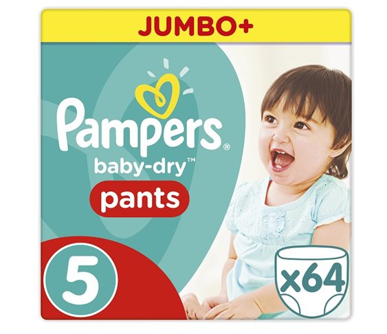 Πάνες Pampers Baby Dry Pants Junior Jumbo 64τ