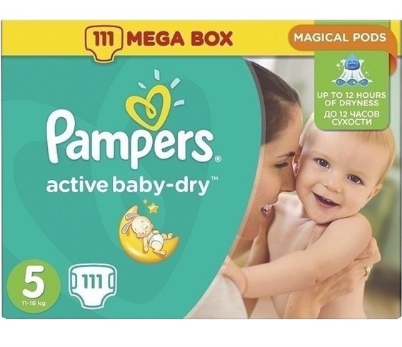 Pampers Active Baby Dry MegaPack No5(11-18Kg)