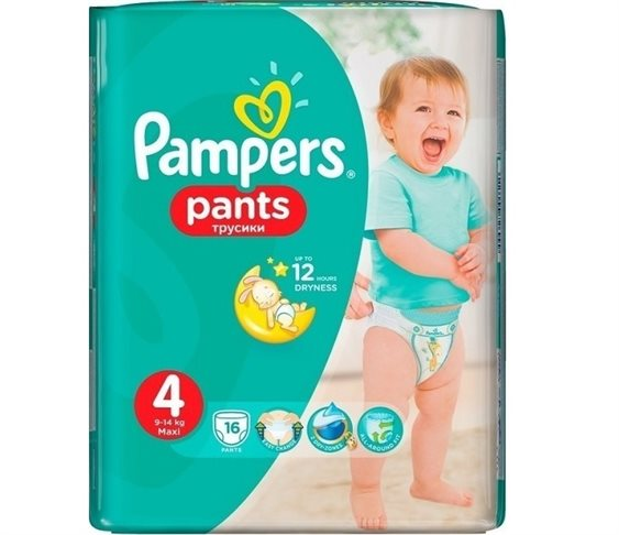 Πάνες Pampers Pants No 4 (9-14kg) 16 τμχ