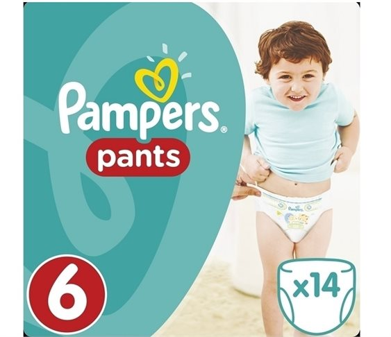 Πάνες Pampers Pants No 6 (16+kg) 14 τμχ