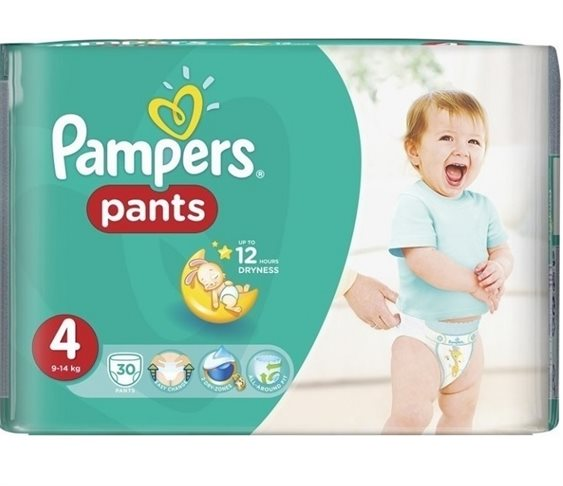 Πάνες Pampers Pants No 4 (9-14kg) 30 τμχ
