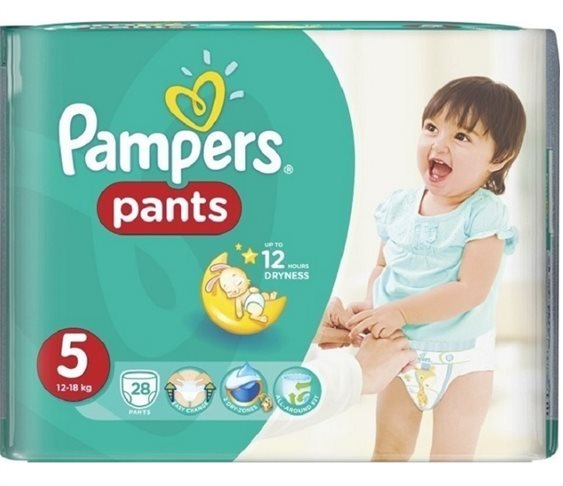 Πάνες Pampers Pants No 5 (12-18kg) 28 τμ