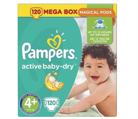 Pampers Active Baby-Dry Νο 4+(Maxi+) 9-1