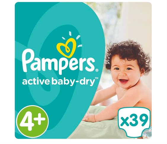 Πάνες Pampers Active Baby-Dry No 4+ (Max