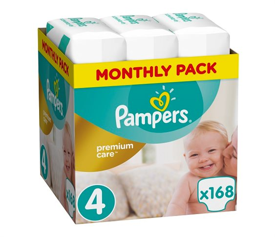 Πάνες Pampers Premium Care No4 (Maxi) 8-14 kg