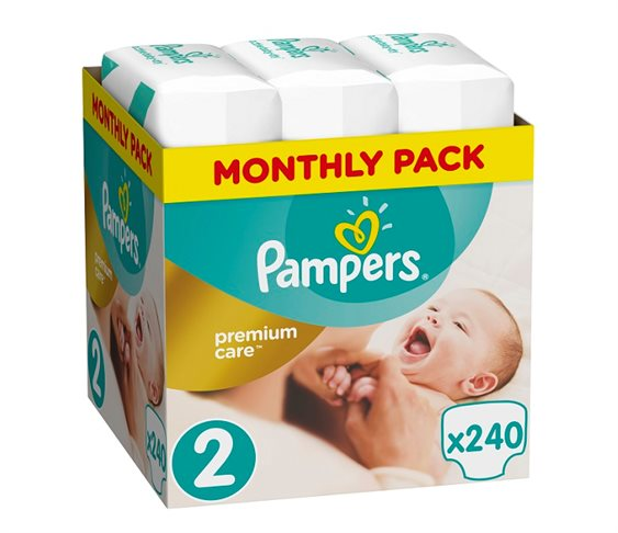 Πάνες Pampers Premium Care No2 (Mini) 3-6 kg,