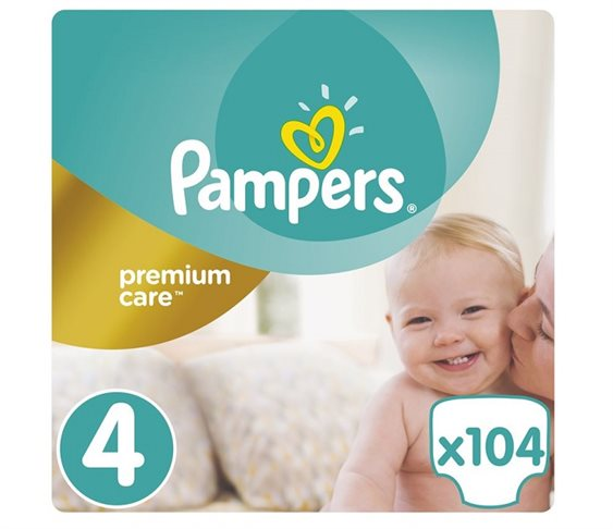 Pampers Premium Care No 4 (Maxi) 8-14 kg 104