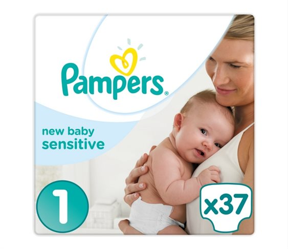 Πάνες Pampers  New Baby Sensitive No 1 (Newbo
