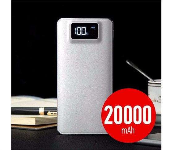 Power Bank 5V/20000mAh - 2 Θύρες USB, Φα