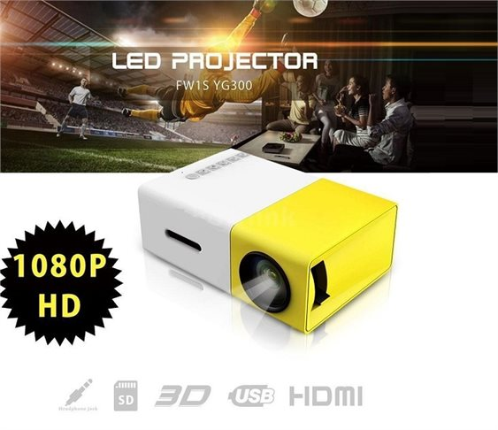 Mini 1080P FULL HD LED Projector με HDMI