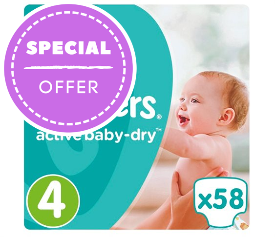 Πάνες Pampers Active Baby-Dry No 4 (Maxi