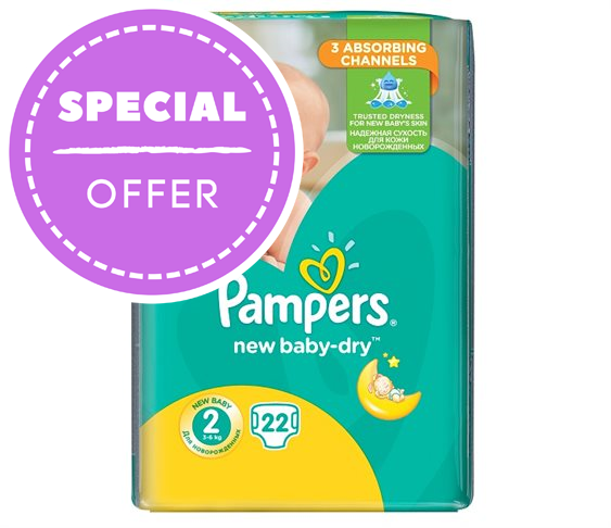 Πάνες Pampers New Baby-Dry Mini No2 (3-6
