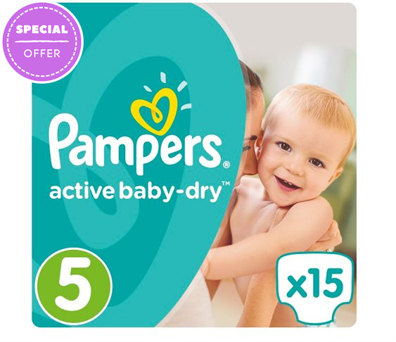 Πάνες Pampers Active Baby-Dry No 5 (Juni