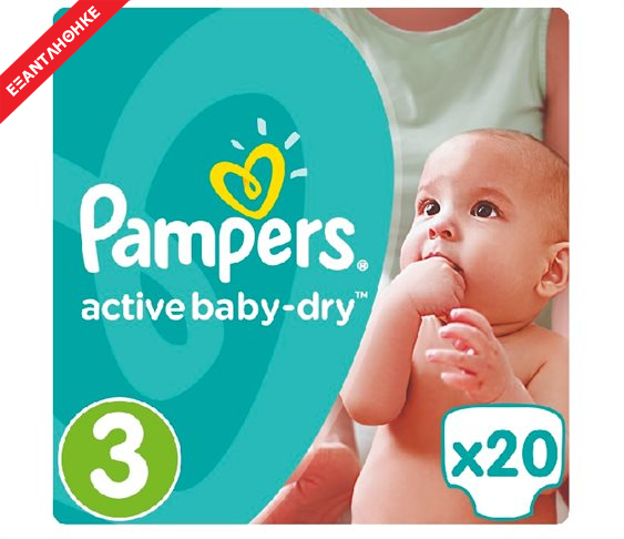 Πάνες Pampers Active Baby-Dry No 3 (Midi