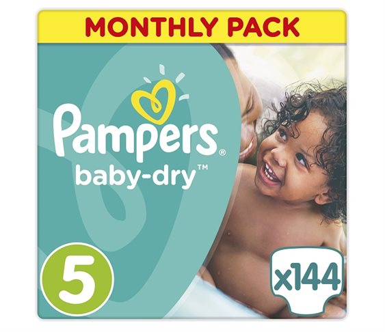 Πάνες Pampers Baby Dry Junior Μonthly 14