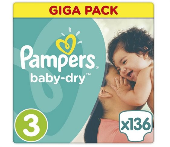 Πάνες Pampers Baby Dry Midi Giga-Pack No