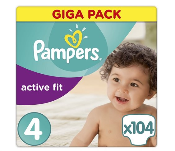 Πάνες Pampers Active Fit Maxi Giga Pack