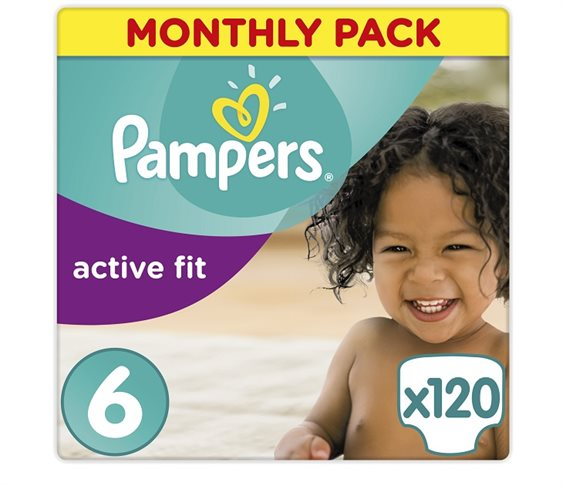 Πάνες Pampers Active Fit X-Large Monthly