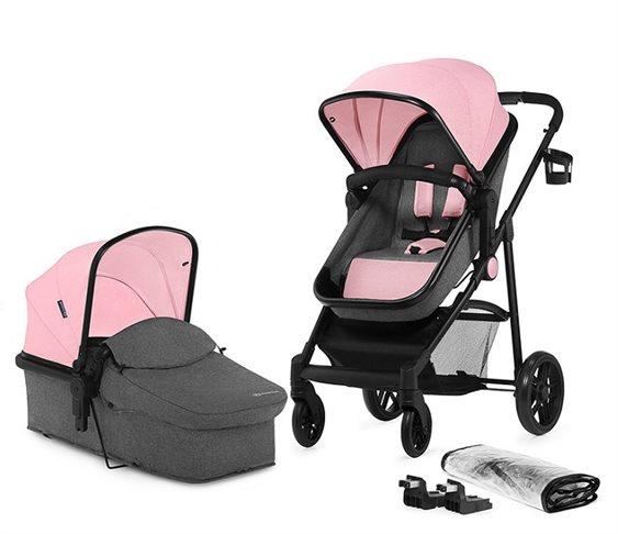 bd097c5117f Παιδικό Καρότσι 2 σε 1 KinderKraft JULI (Ροζ)